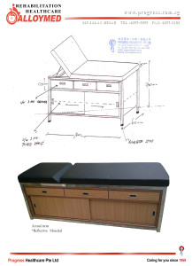 187 Examination Couch Stainless Steel Framework