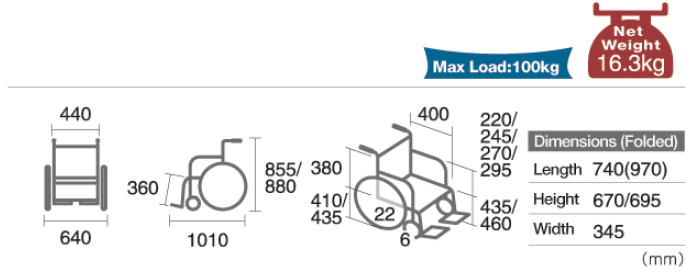 M880BD Dimensions