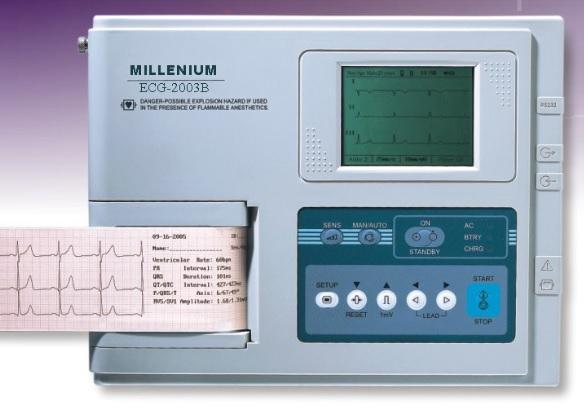 ECG Machine, 1 / 3 channel -