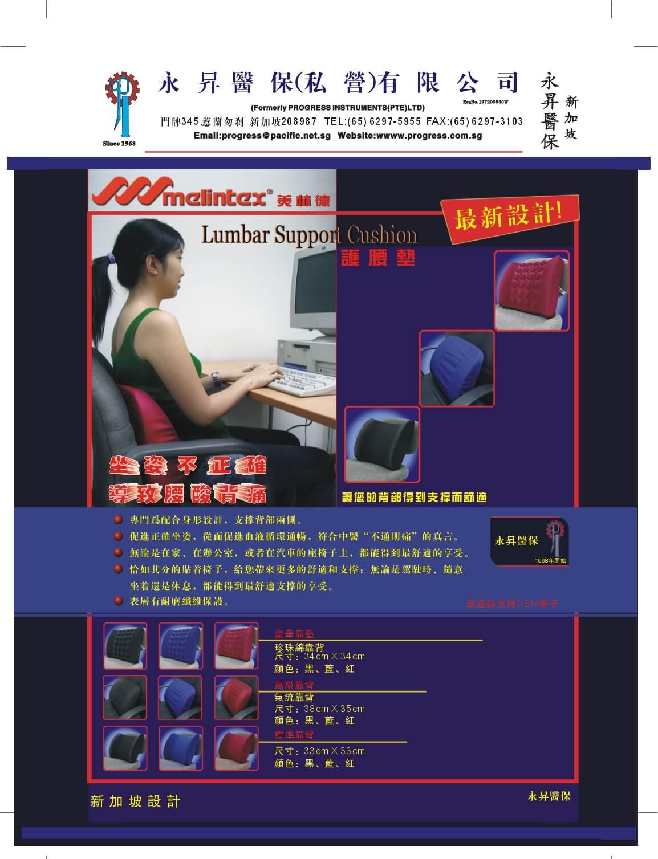 Melintex Lumbar Support Back Cushion Seat Cushion