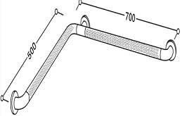 Corner Wall Grab Bar Dimension