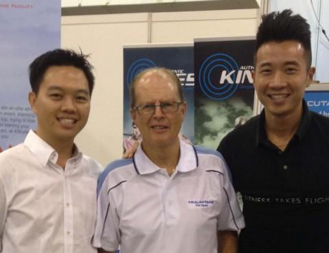 Traumitane creator, Warwick Lightbourne from New Zealand with Aileron Wellness founder, Keith Tan