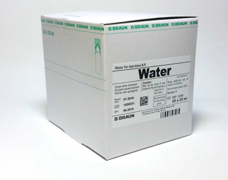 WATER FOR INJECTION MINI PLASCO