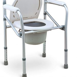 NH40L ALLOYMED ALUMINIUM HEIGHT ADJUSTABLE FOLDABLE STATIONARY SHOWER COMMODE