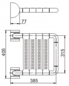 ALLOYMED 8052 SHOWER CHAIR DIMENSIONS
